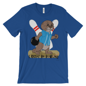 I Otter Be Bowling Royal T-shirt