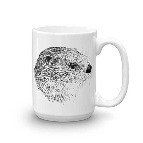 Pen & ink River otter Head Mug mockup_Handle-on-Right_15oz