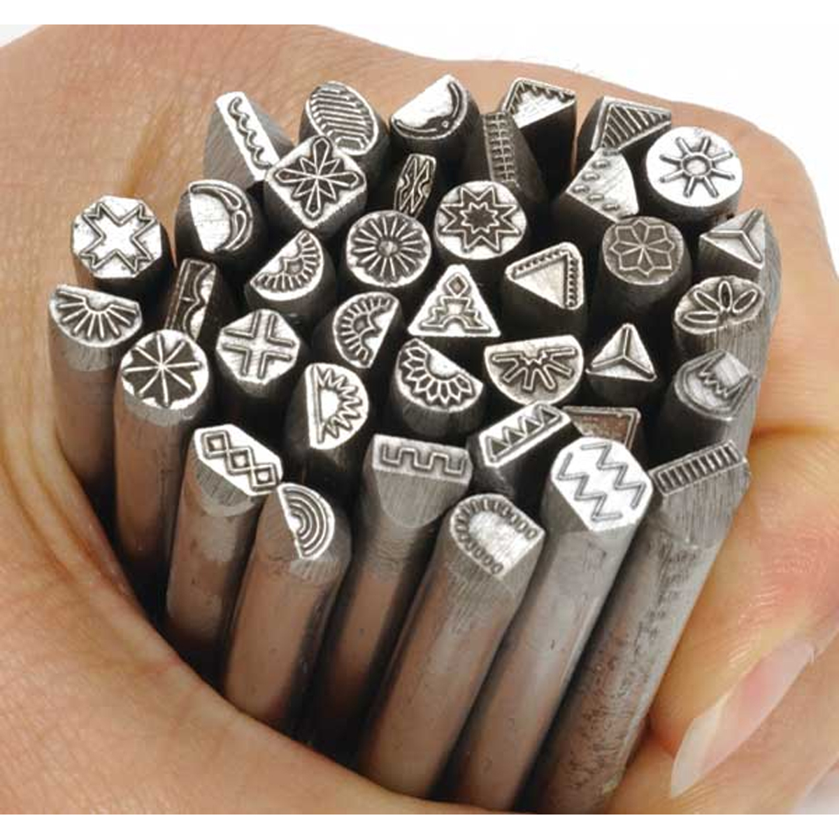 Traditional Design Metal Stamps for JewelryComplete Set of 38 Punches  OttoFreicom