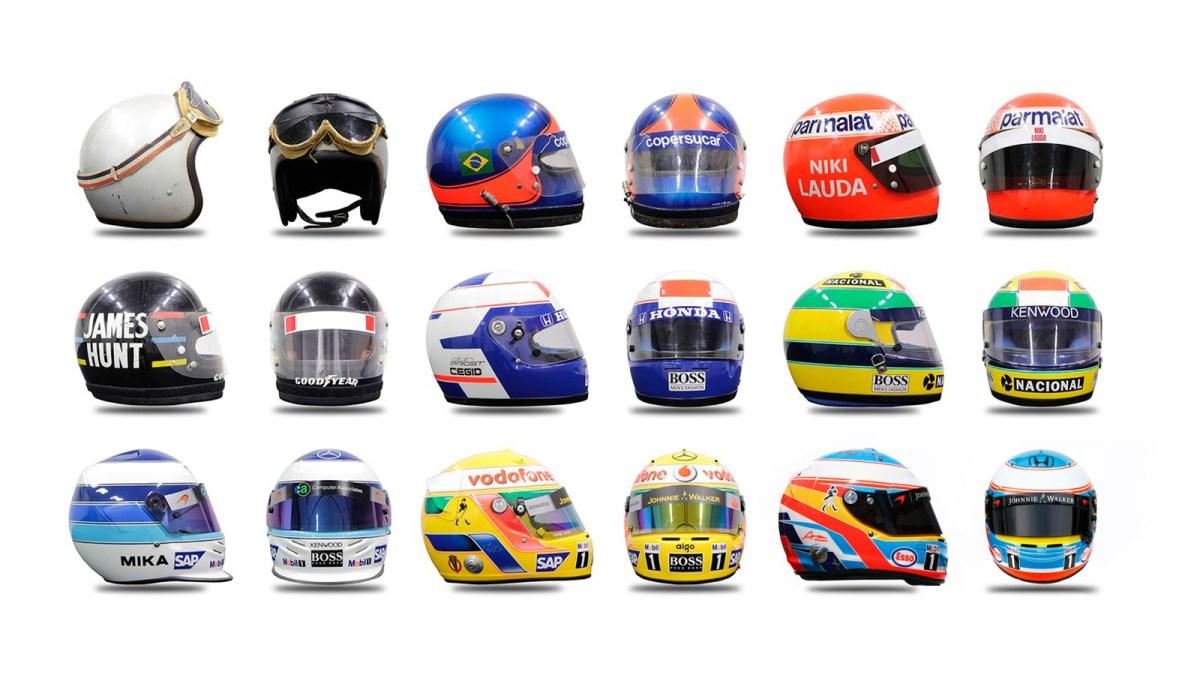 Evolución de los cascos de F1