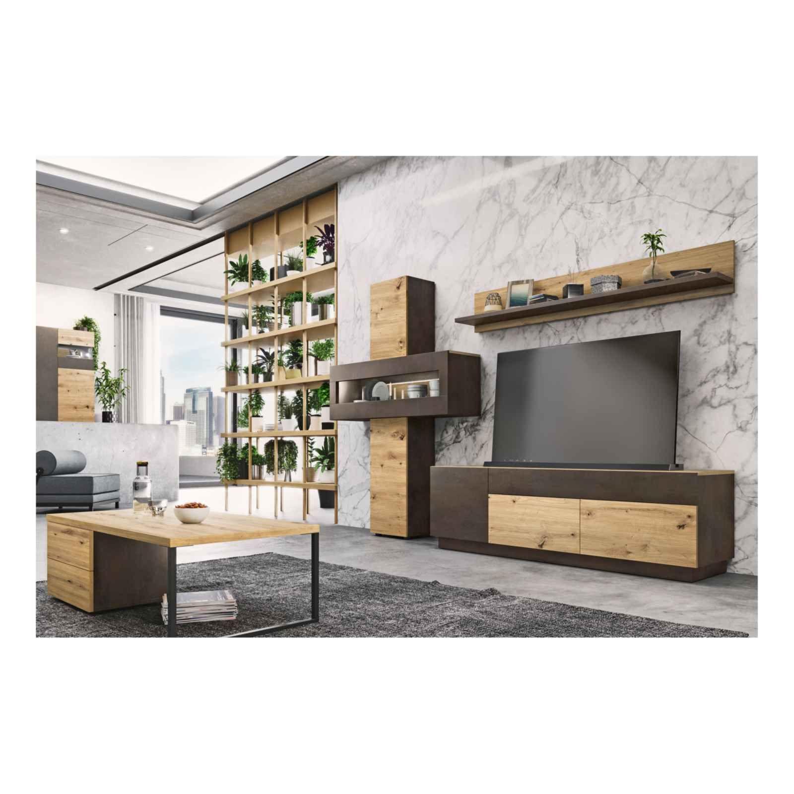 meubles tv boba decor artisanal chene rouille