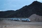 Otto Trucking before dawn