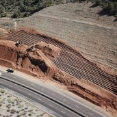 ADOT OTTO TRUCKING SLATE CREEK PROJECT EXCAVATOR BUSH HIGHWAY