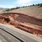 OTTO TRUCKING SLATE CREEK PROJECT EXCAVATOR BUSH HIGHWAY ARIZONA BEELINE HIGHWAY