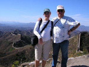 My father and I on the Great Wall