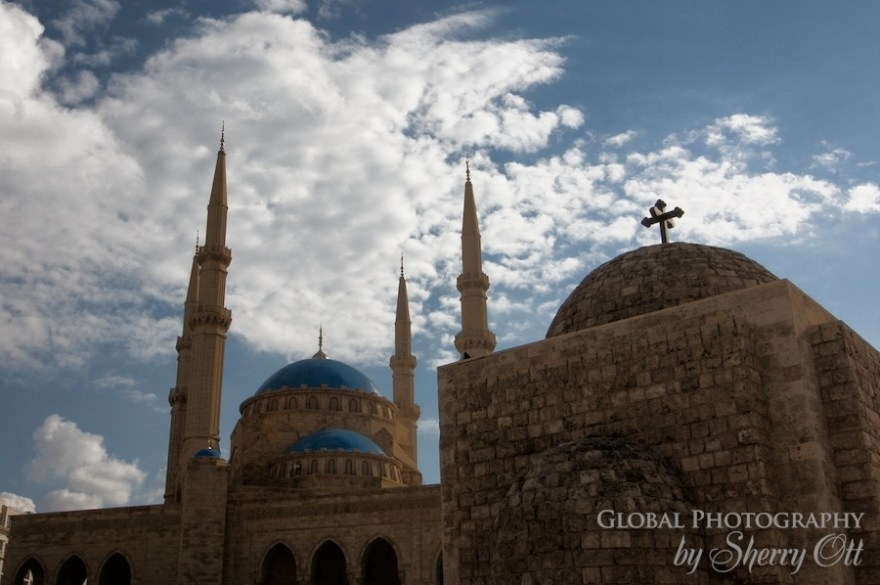 Mohammad al-Amin Mosque and church Beirut