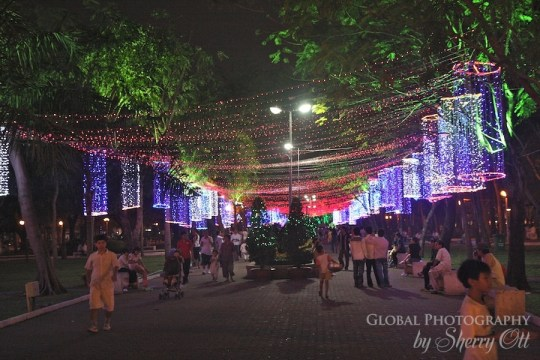 Christmas lights HCMC