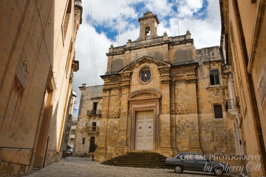 three cities malta church Vittoriosa