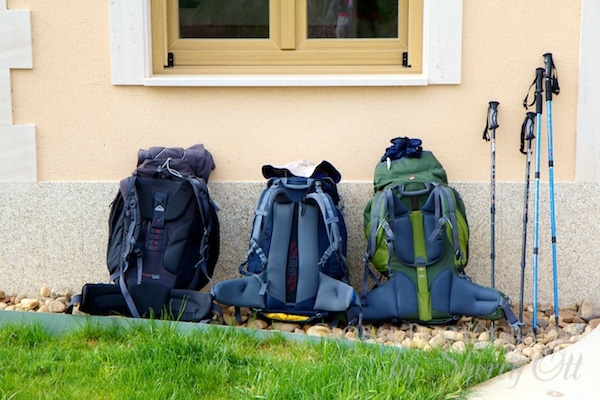 camino de santiago backpacks