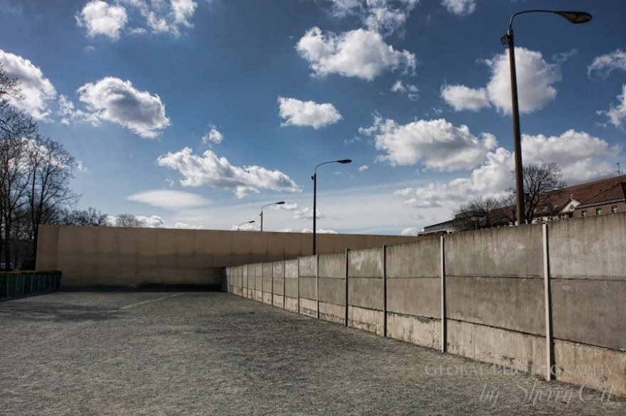 The East German side of the Berlin wall