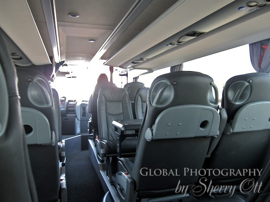first class bus section