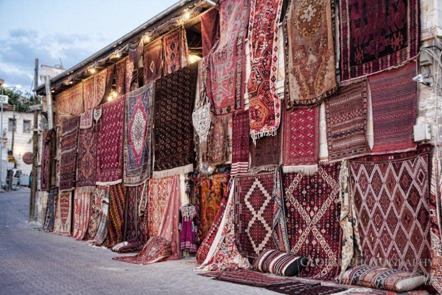 Rug vendor in Goreme Turkey