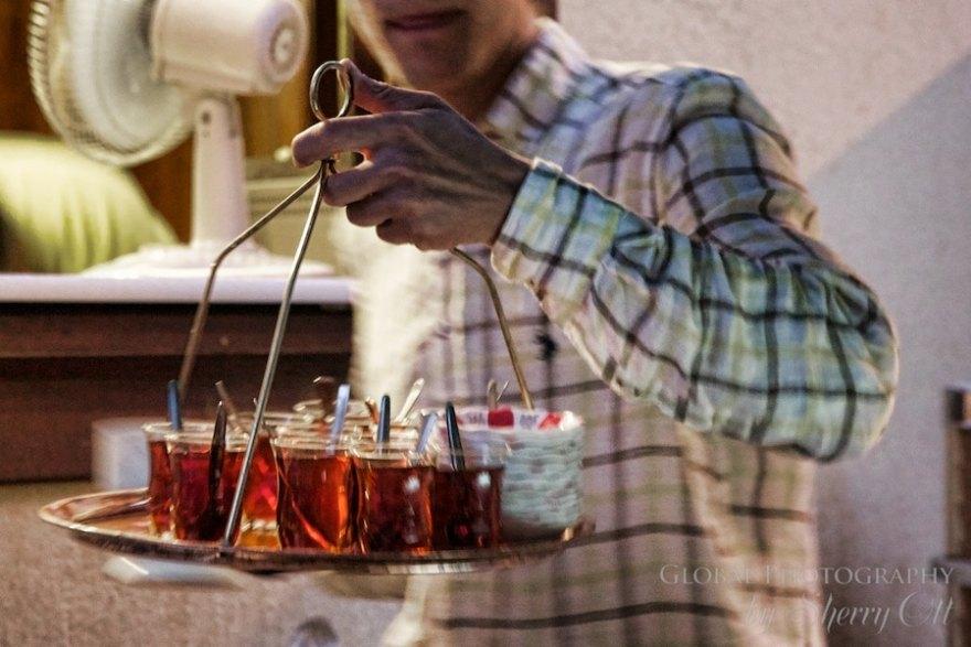 serving tea in Turkey