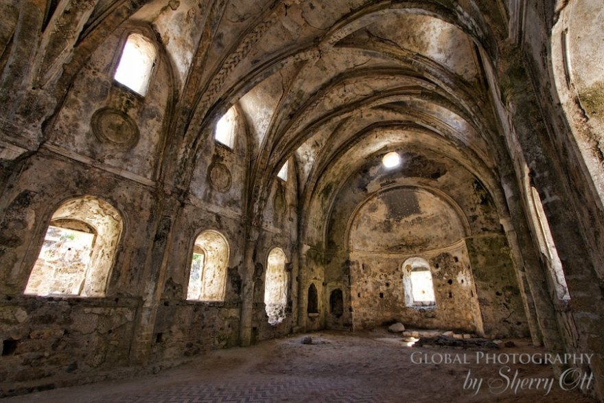 Kayakoy's abandoned upper church