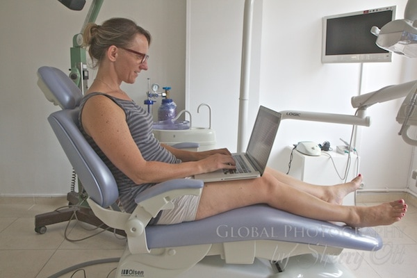 Me working in the dentist chair