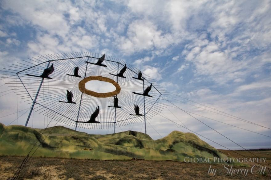 Enchanted Highway North Dakota Geese in Flight