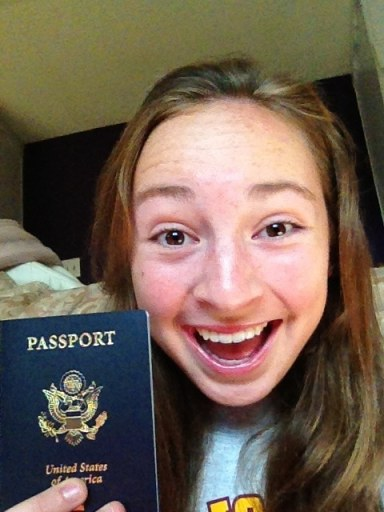 Evie and her new passport