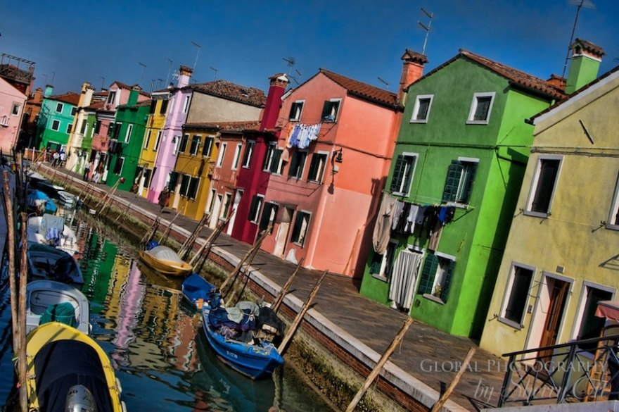 Burano Italy is known for it's rainbow pallette