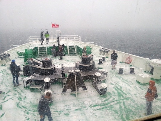 A snow day on the MS Expedition