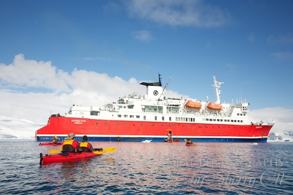 Kayaking back to the ship after a long paddle - things to do in Antarctica