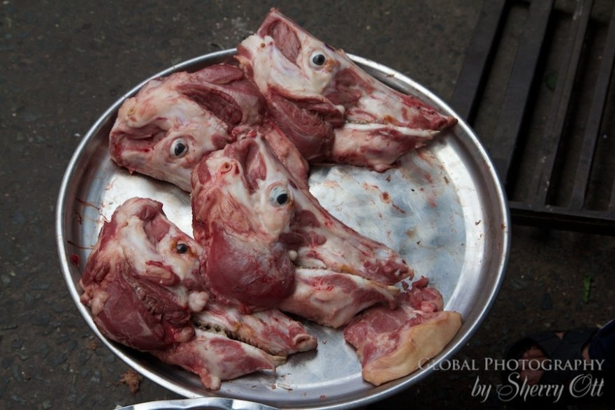 cow heads vietnam market