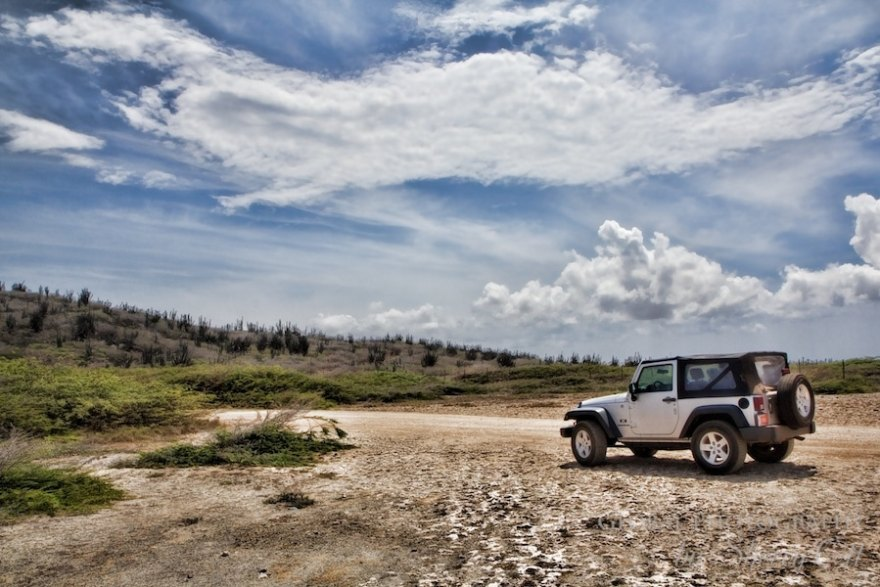 Jeep offroading with 48 hours in aruba