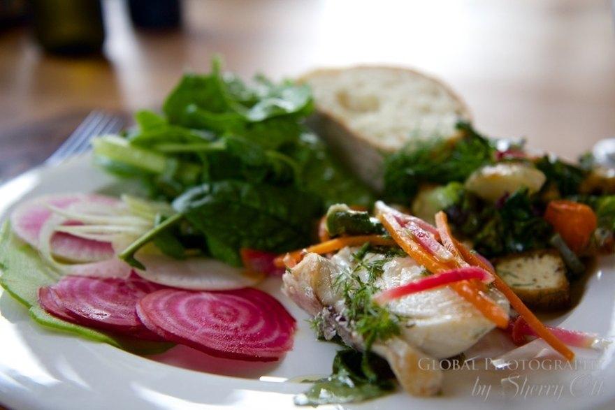 colorful organic salad maui