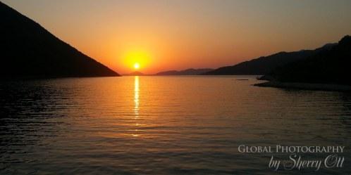 sunset mediterranean turkey
