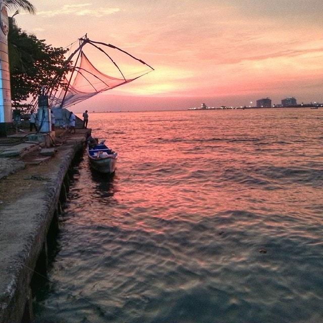 Last sunset at Fort Kochi before the Rickshaw run begins