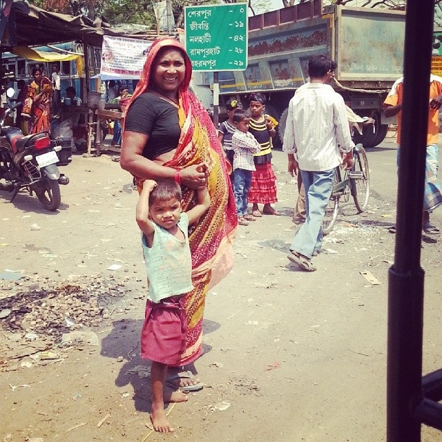 smiles from the side of the road in India