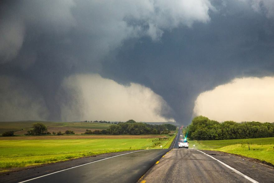 Twin tornadoes heading for my aunt's home. Image courtesy NYPost