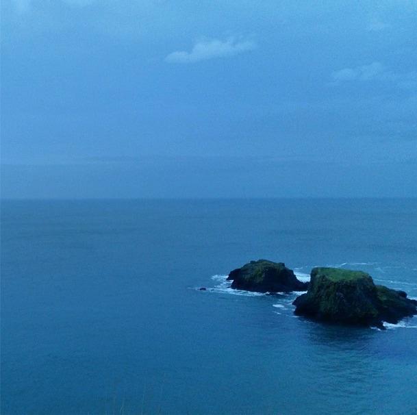 Northern Ireland coast dusk