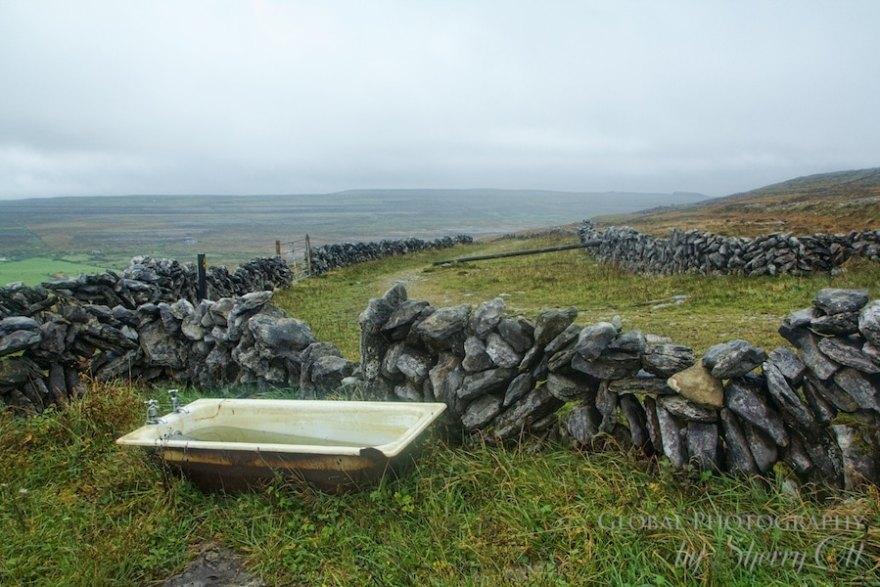 abandoned bath tub burren