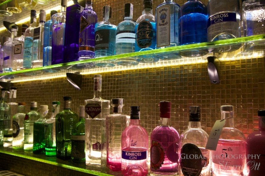Ramonas colorful collection of gin