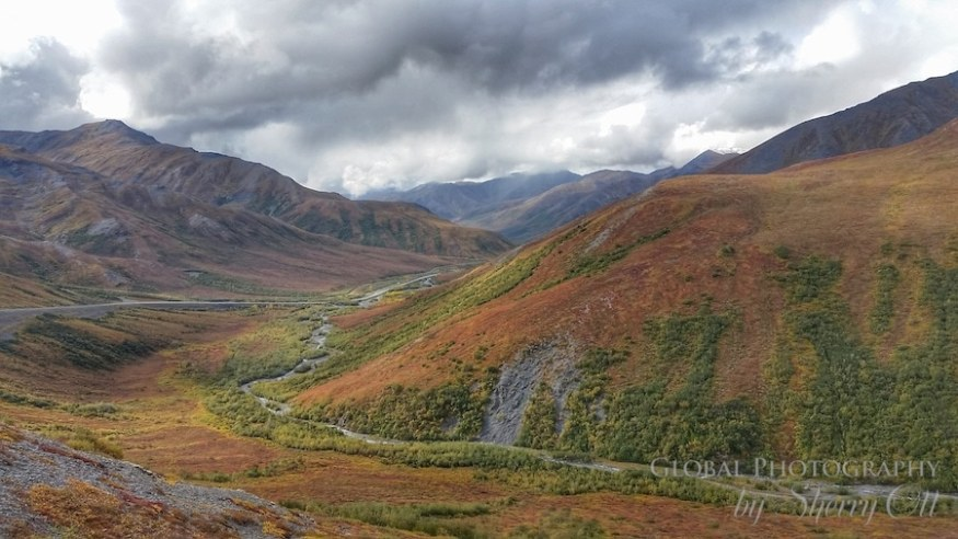 Coming down off of Atigun Pass in the Brooks Range in August