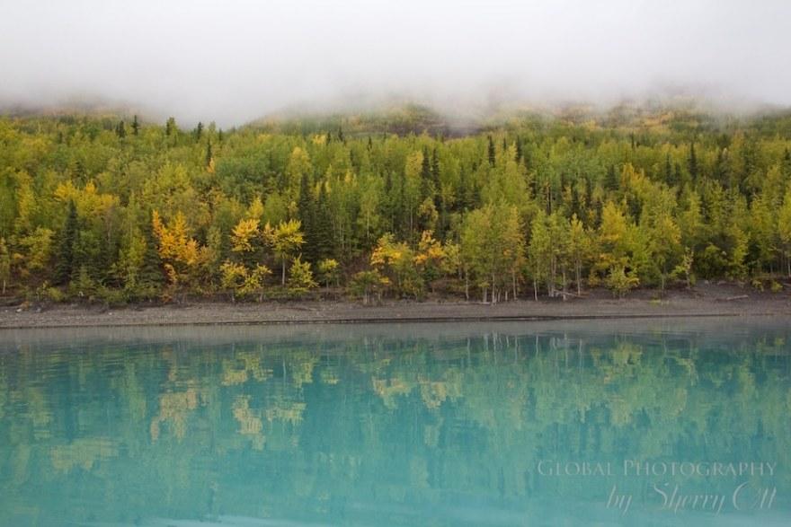alaska in the fall eklunta lake
