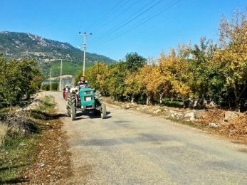 Harvest season in the small towns along the trail
