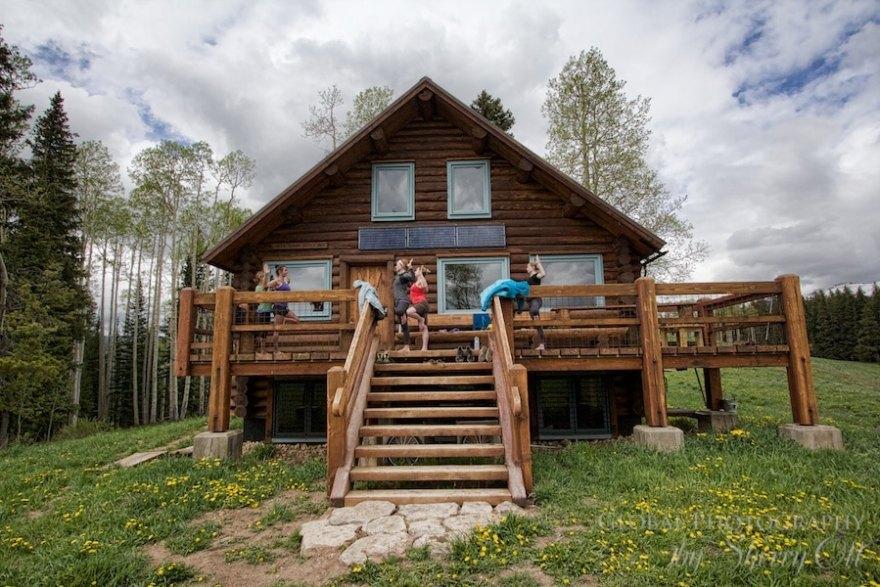 colorado mountain hut yoga