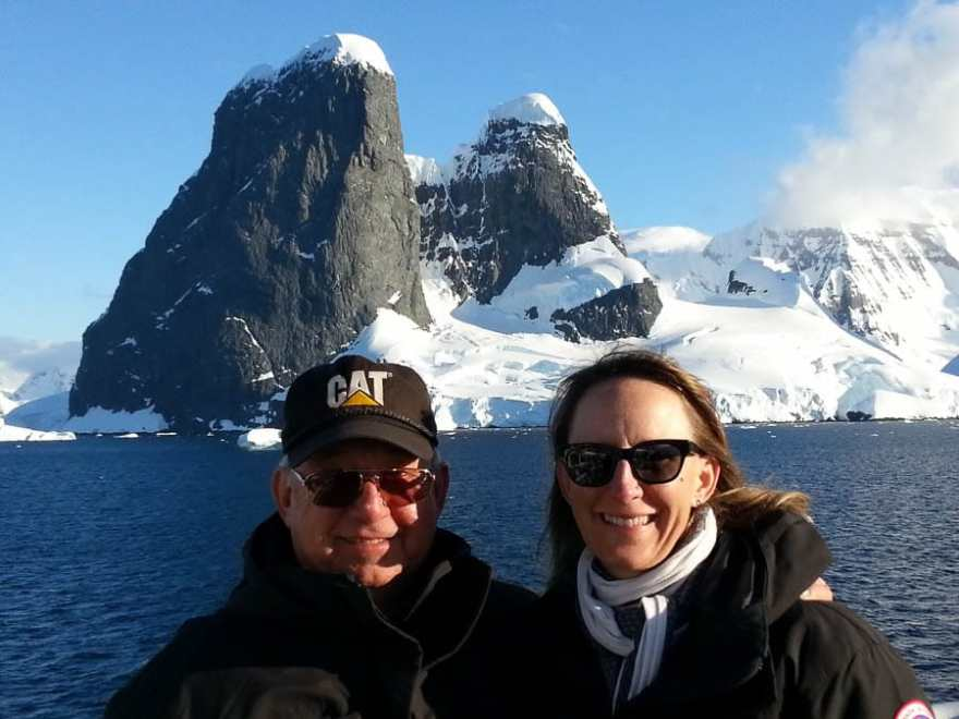 My dad and I in Antarctica