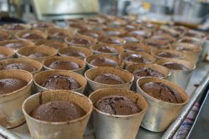 chocolate fondant cooking at sea