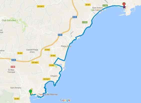 Cami de Ronda map
