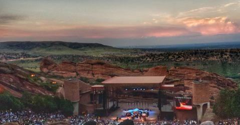 Red Rocks Denver sunset