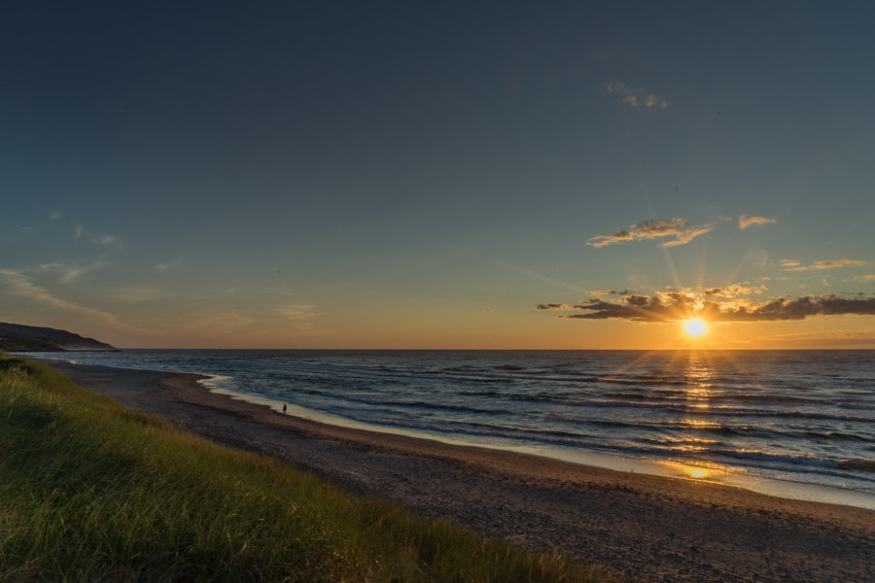 cabot links golf course sunset
