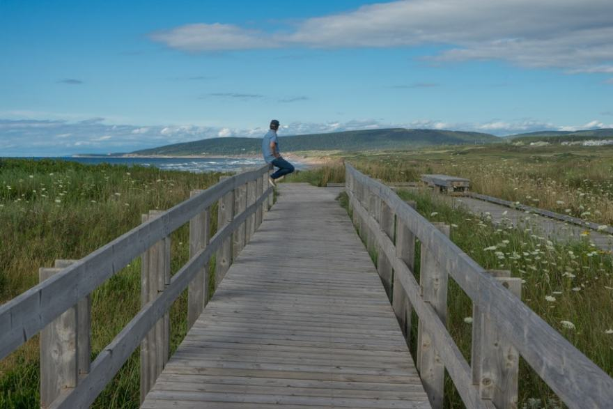 cape breton hike inverness boardwalk