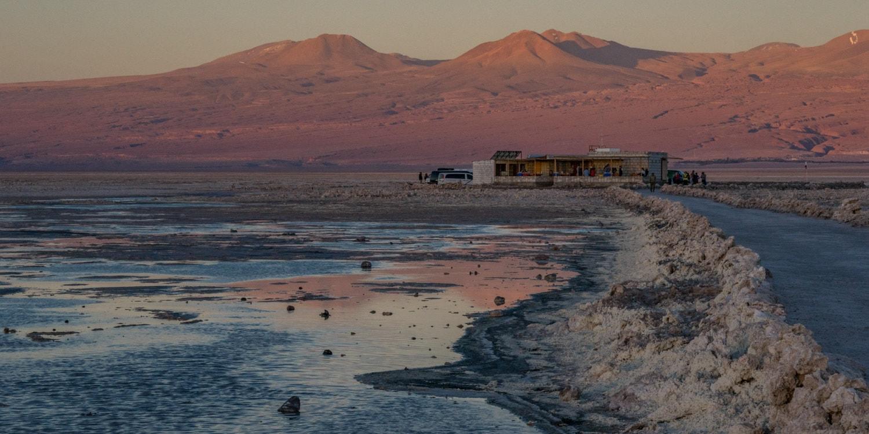 NOrthern Chile Lake Chaxa sunset