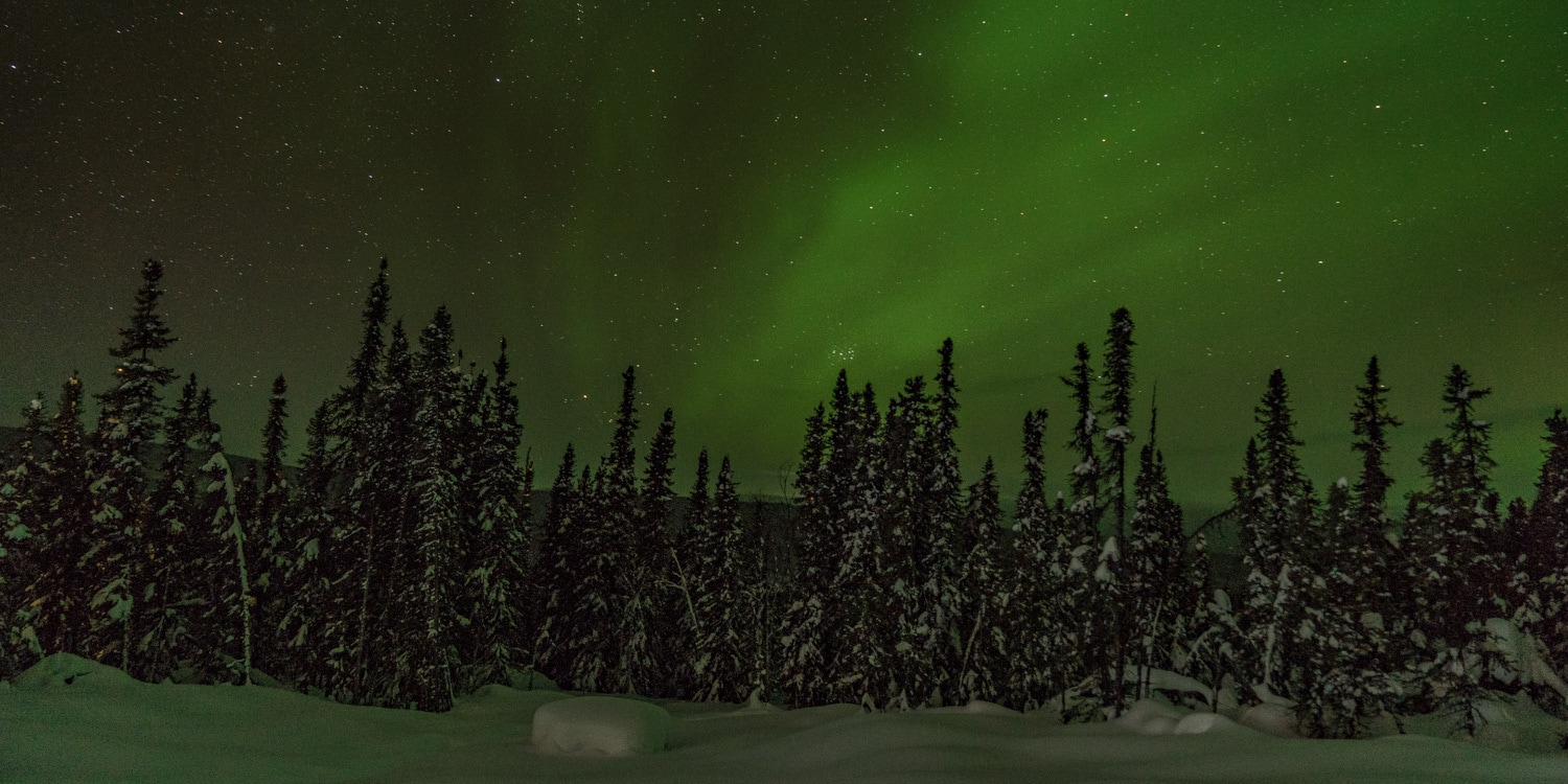 Fairbanks Alaska winter aurora