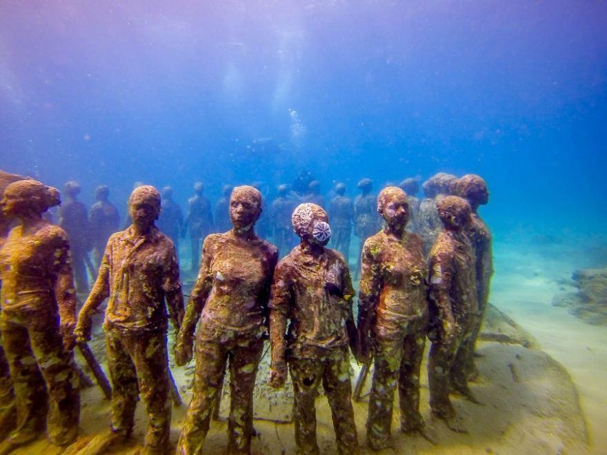 scuba diving surprises Grenada sculpture park