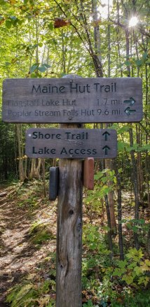 Trail markers maine huts and trails