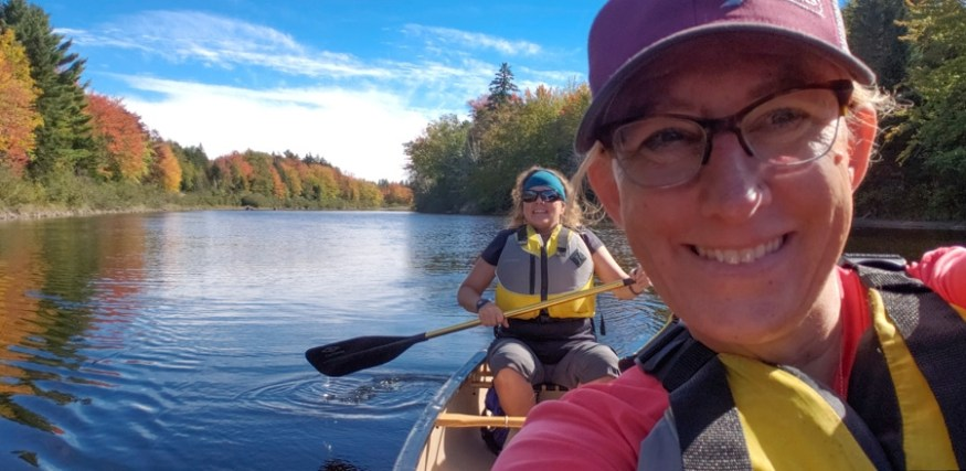 Maine huts and trails grand falls canoe
