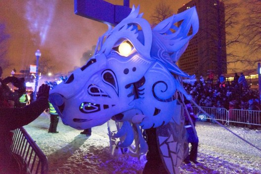 Quebec winter carnival parade